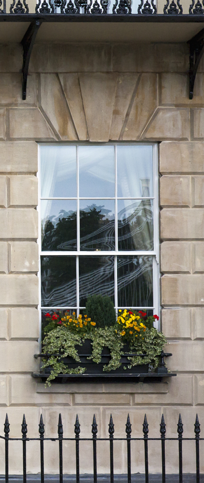 Georgian window triptych
